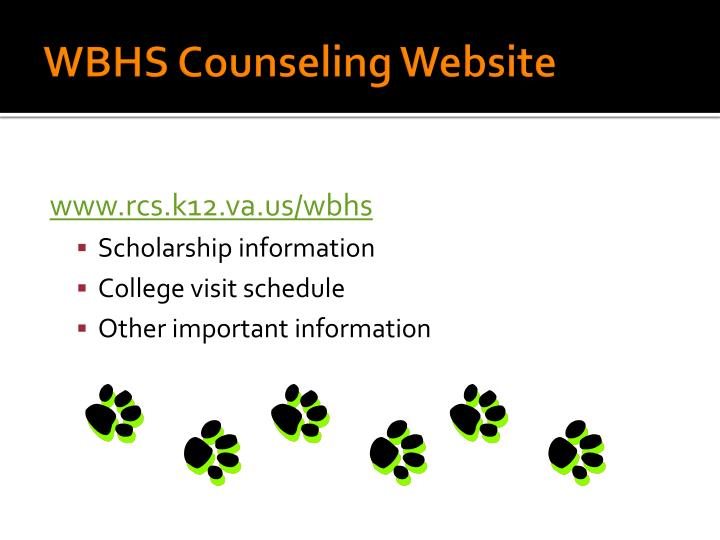 WBHS Counseling Website