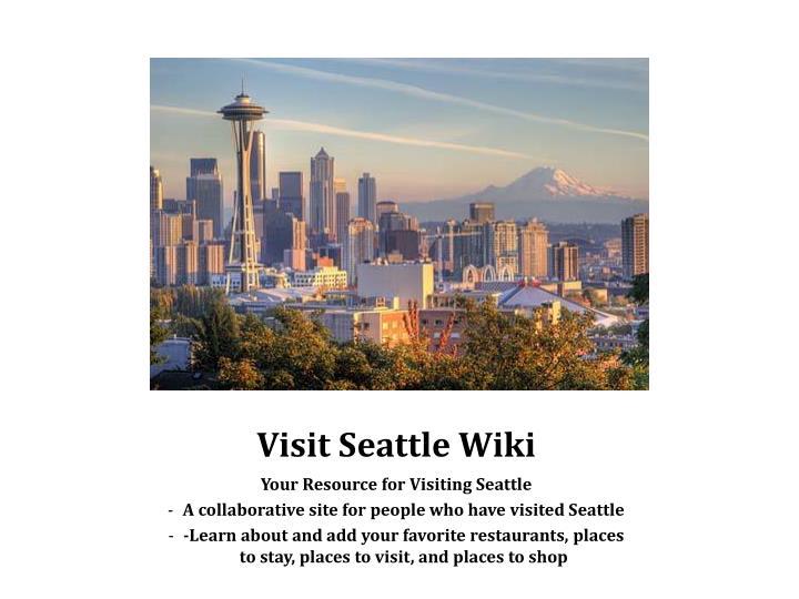 Visit Seattle Wiki
