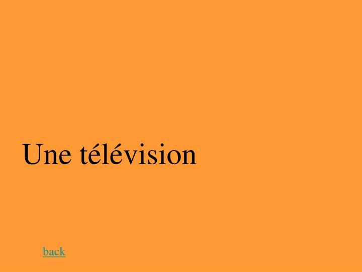 Une télévision