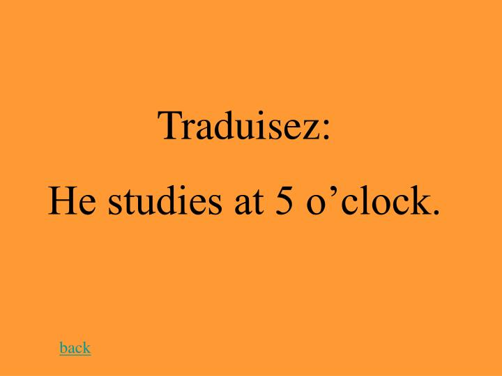 Traduisez: