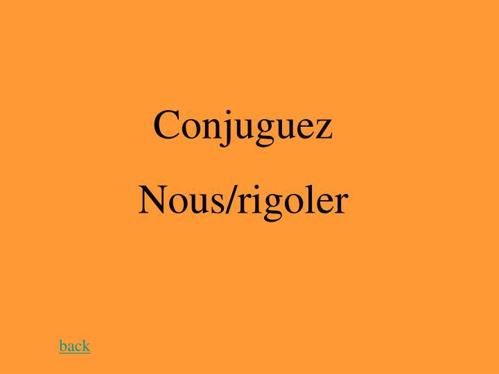 Conjuguez