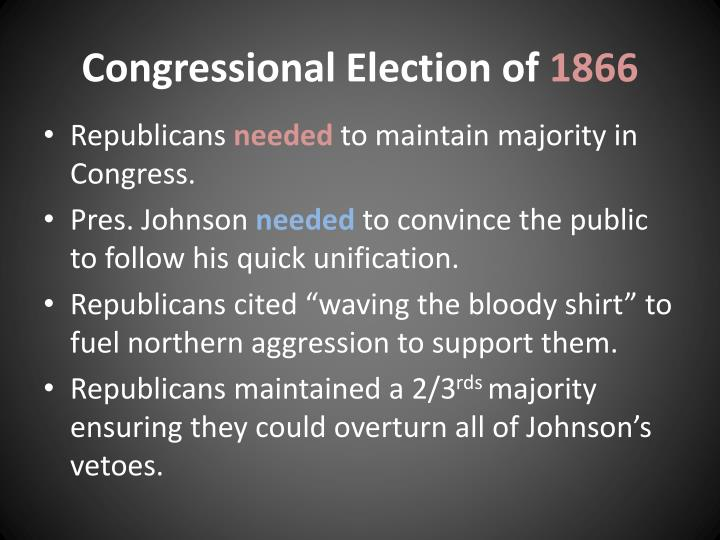 Congressional Election of