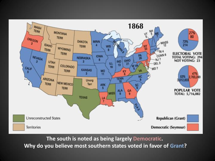 The south is noted as being largely