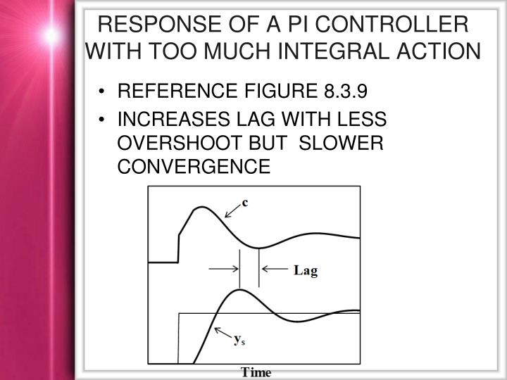 Response of a PI Controller with Too Much Integral Action