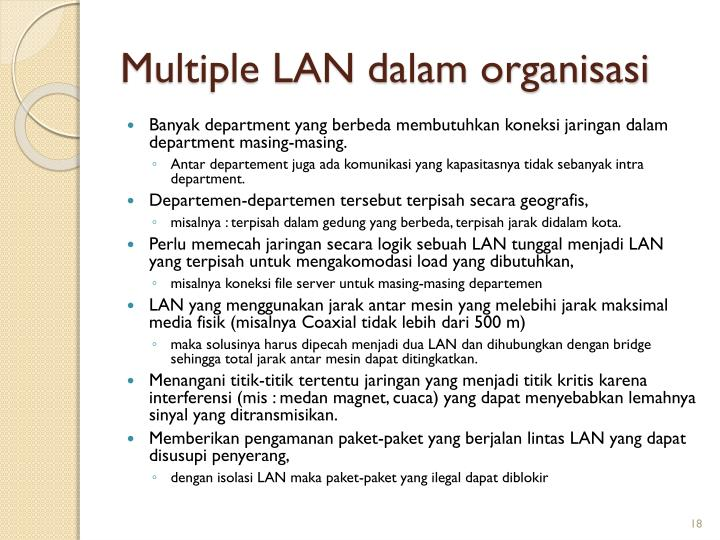 Multiple LAN dalam organisasi