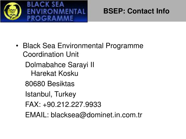 BSEP: Contact Info