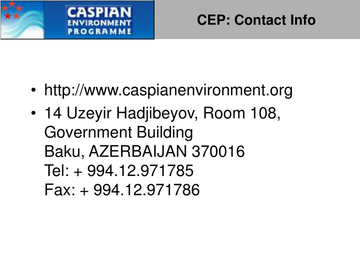 CEP: Contact Info