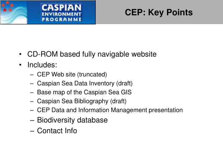 CEP: Key Points