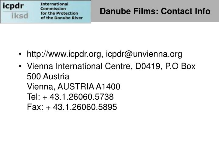 Danube Films: Contact Info