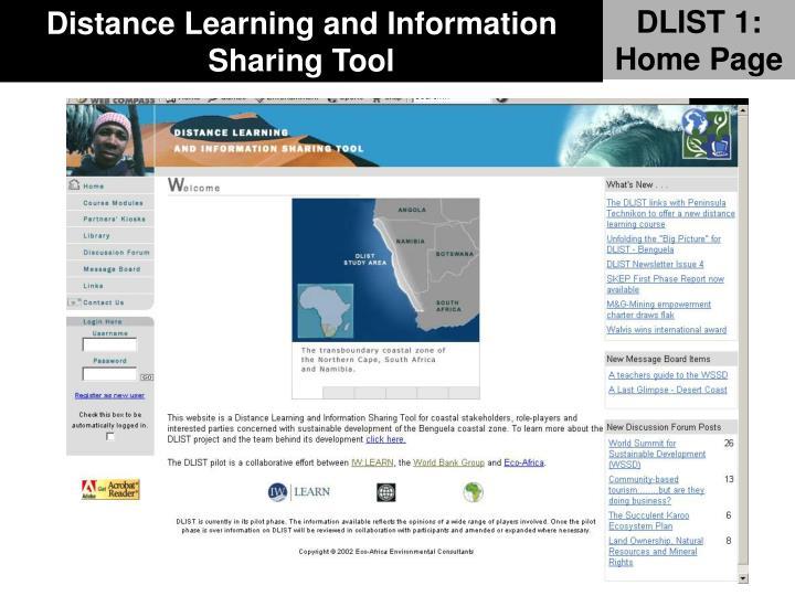 DLIST 1: Home Page