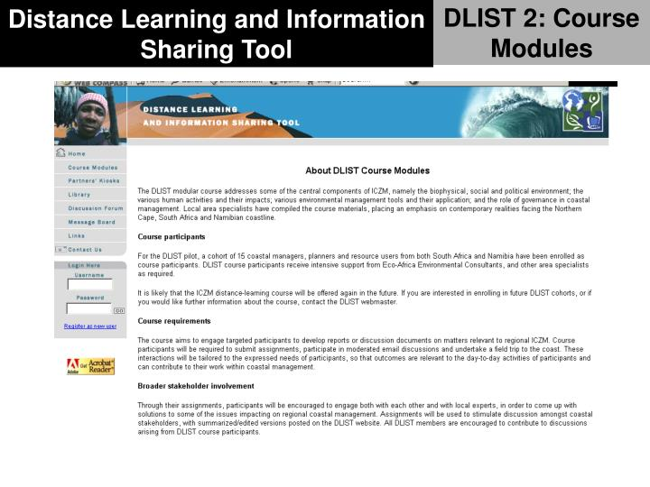 DLIST 2: Course Modules