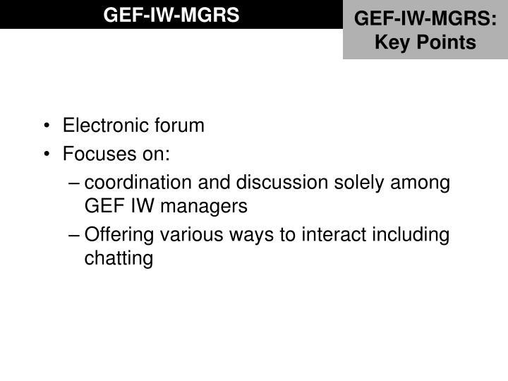 GEF-IW-MGRS