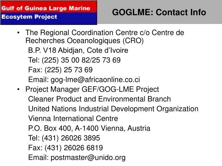 GOGLME: Contact Info