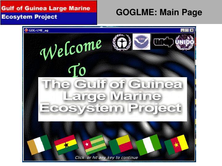 GOGLME: Main Page
