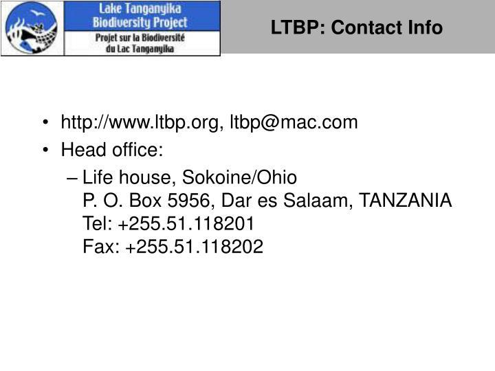 LTBP: Contact Info