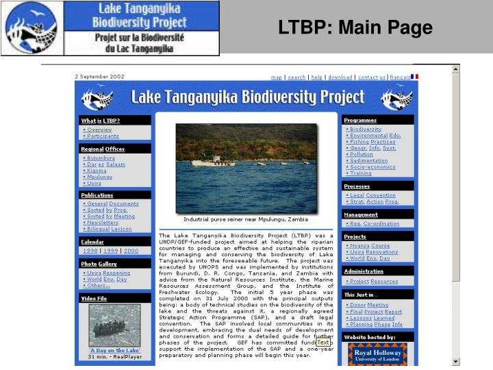 LTBP: Main Page