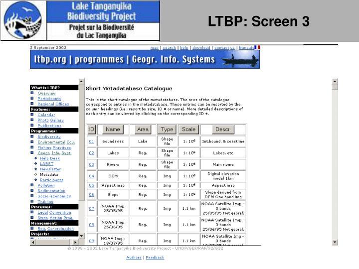LTBP: Screen 3