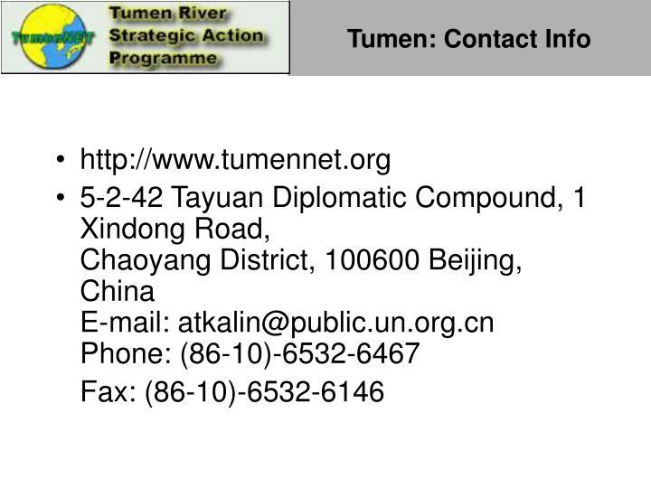 Tumen: Contact Info