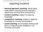 coaching functions
