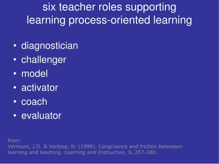 six teacher roles supporting