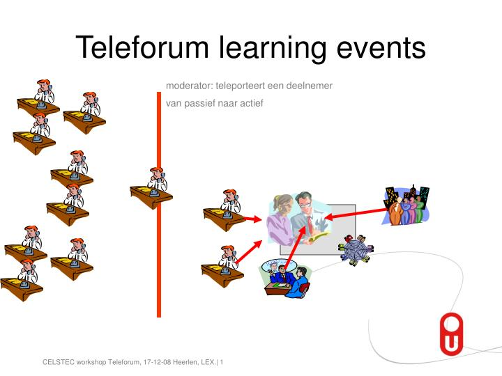 Teleforum learning events