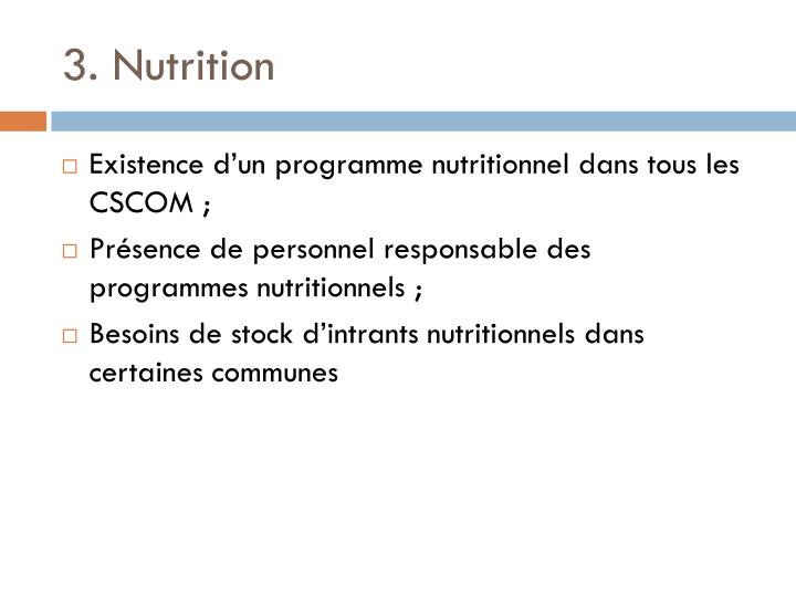3. Nutrition