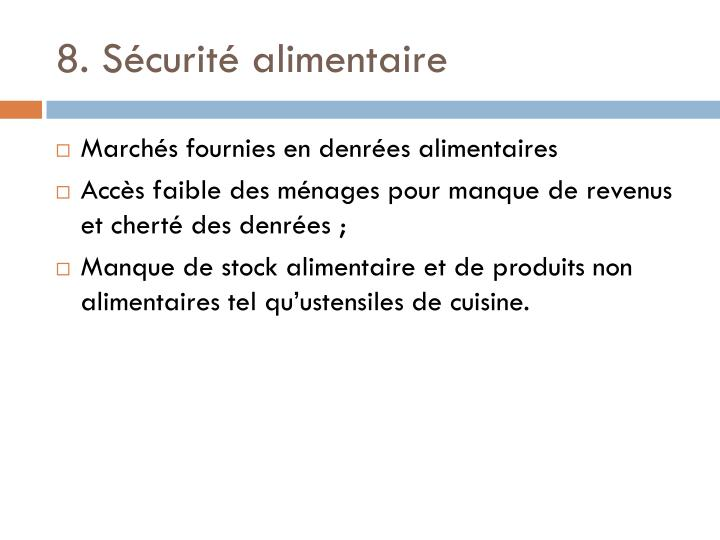 8. Scurit alimentaire