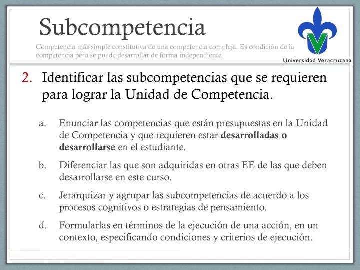 Subcompetencia