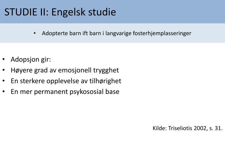 STUDIE II: