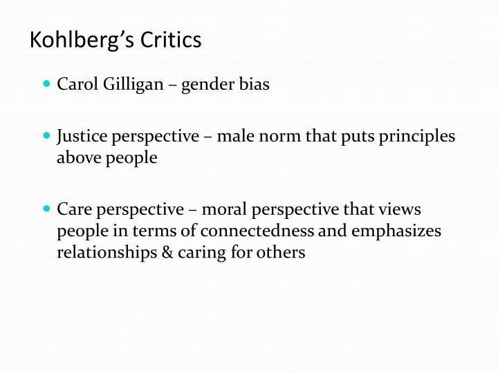 Kohlberg's Critics