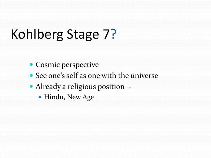 Kohlberg Stage 7