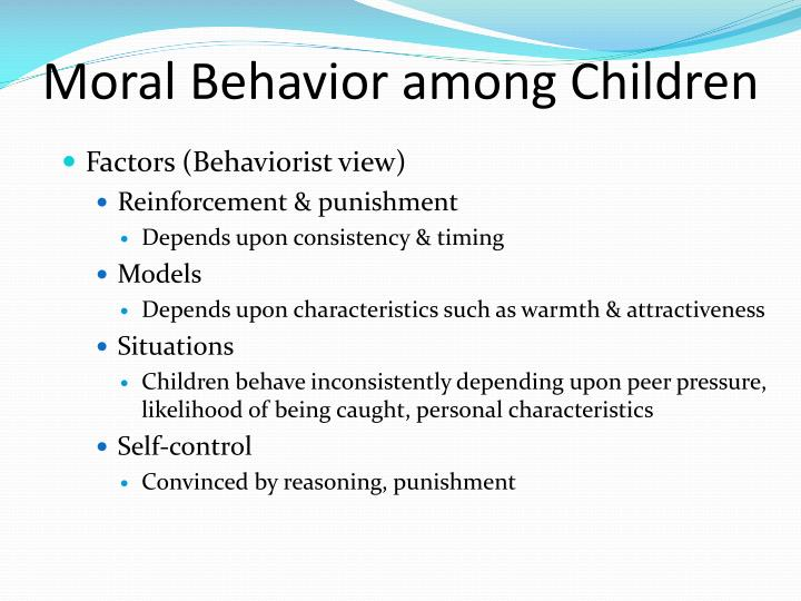 Moral Behavior among Children