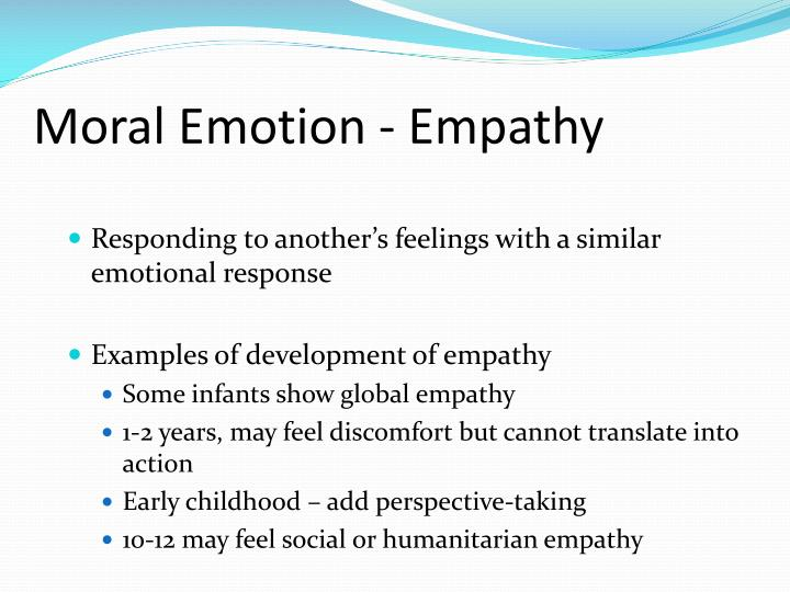 Moral Emotion - Empathy