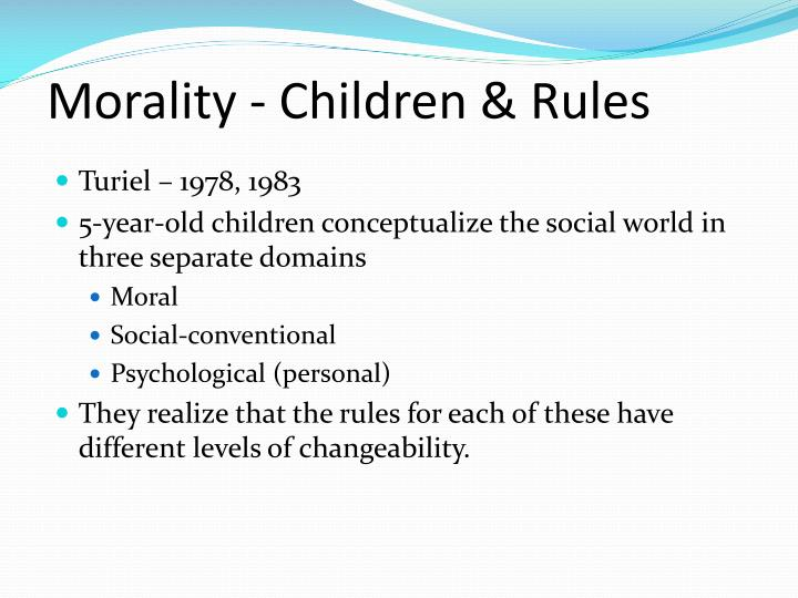 Morality - Children & Rules