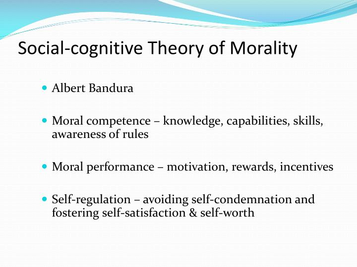 Social-cognitive Theory of Morality