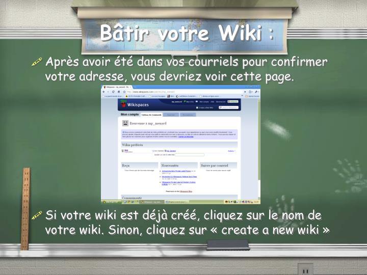 Bâtir votre Wiki