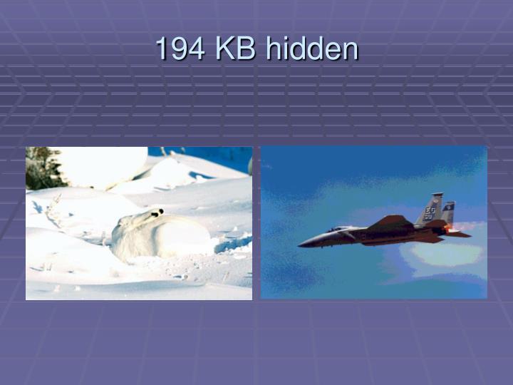 194 KB hidden