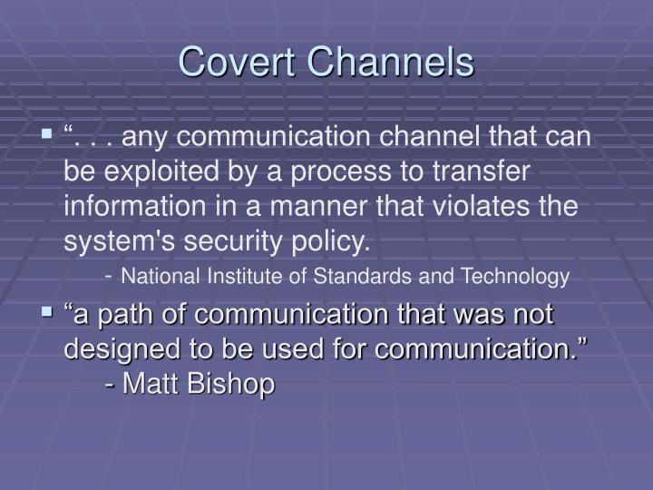 Covert channels1