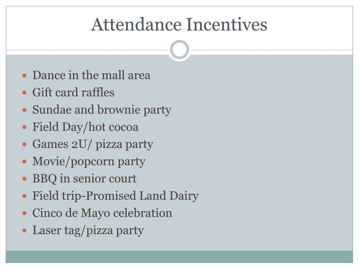 Attendance Incentives