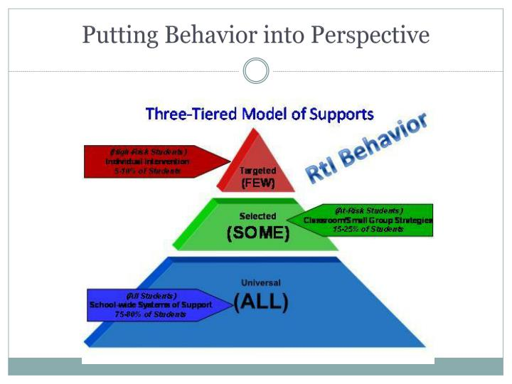 Putting Behavior into Perspective