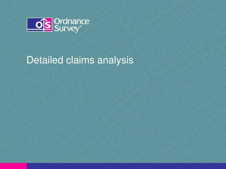 Detailed claims analysis