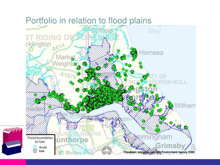 Portfolio in relation to flood plains
