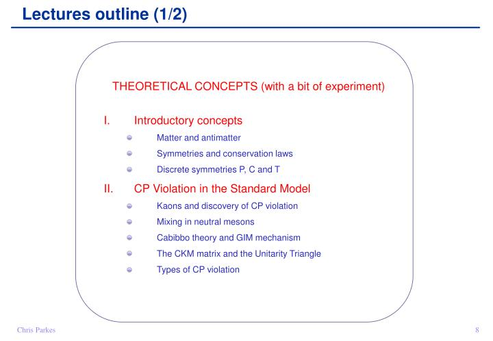 Lectures outline (1/2)