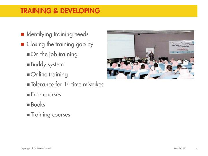 Training & developing