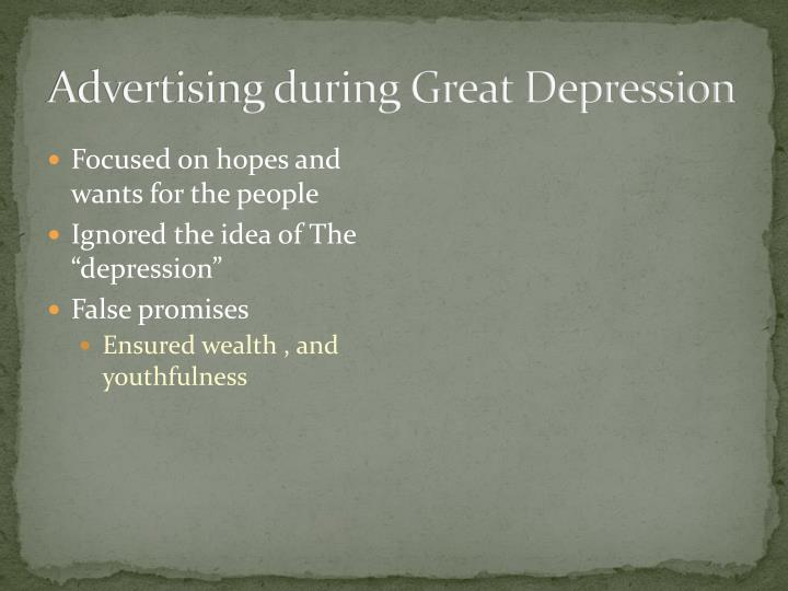 Advertising during great depression