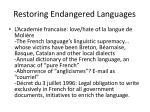restoring endangered languages1