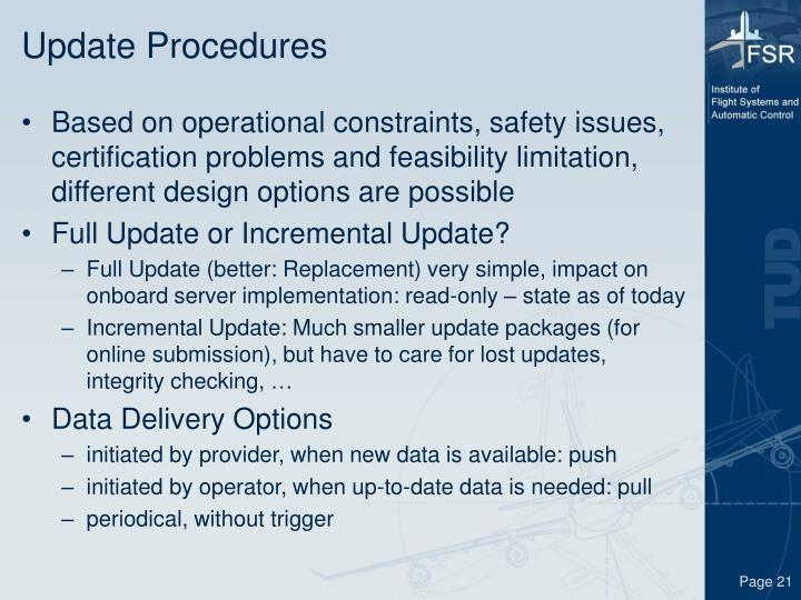 Update Procedures