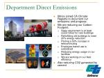 department direct emissions