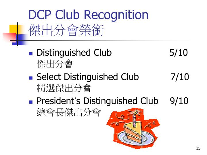 DCP Club Recognition