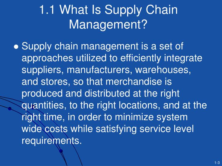1.1 What Is Supply Chain Management?